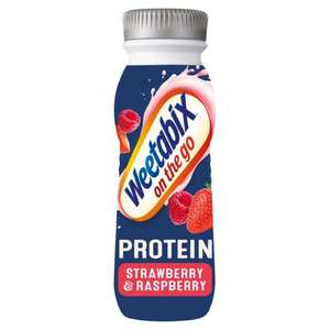 Weetabix on the go , 21g protein, Strawberry and raspberry 3 for £1 heron foods
