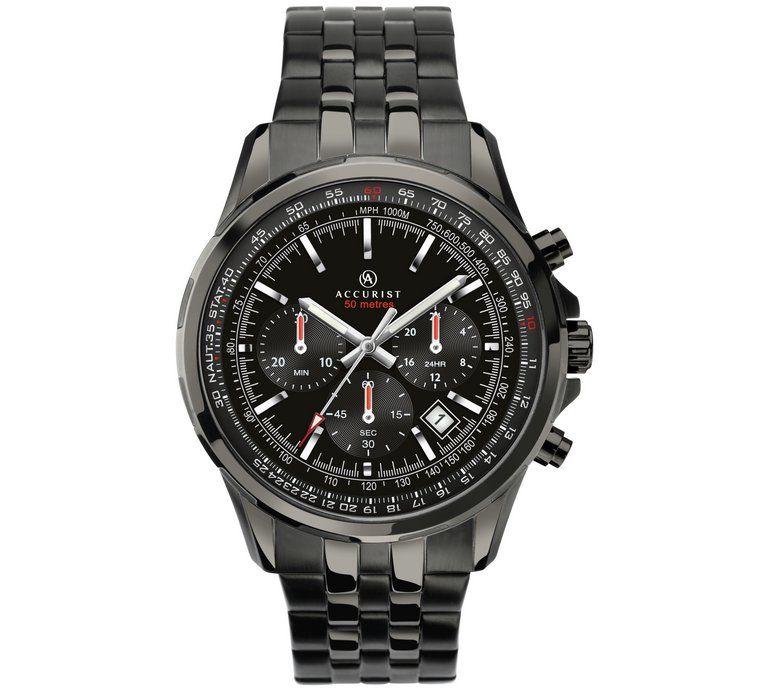 Accurist Men's Black IP Stainless Steel Bracelet Watch £49.99 @ Argos