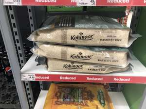 Kohinoor Extra Fine Long Grain Basmati Rice 10 Kilogram was £15 then £13.80 now £4.60 (46p per kilo) at Asda