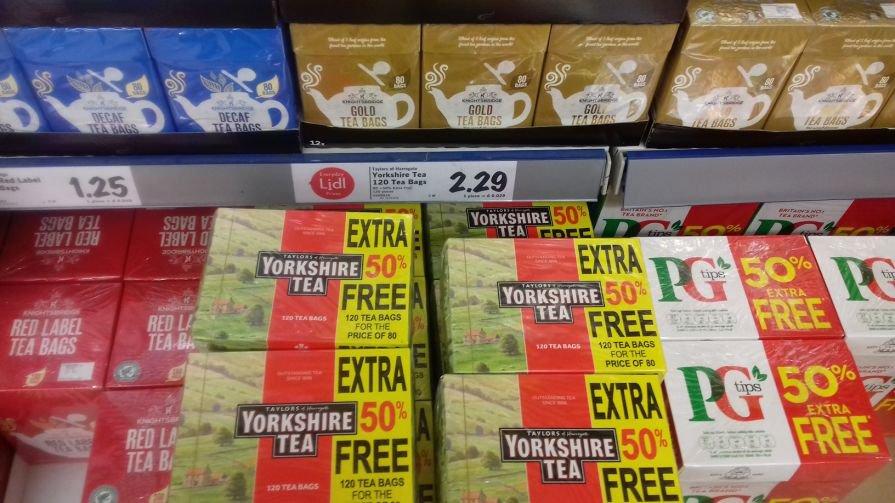 Yorkshire Tea. 120 for £2.29 @ LIDL