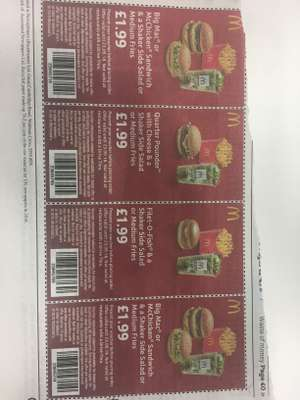 McDonald's Vouchers in today's Metro Newspaper - £1.99 now includes Shaker Side Salad