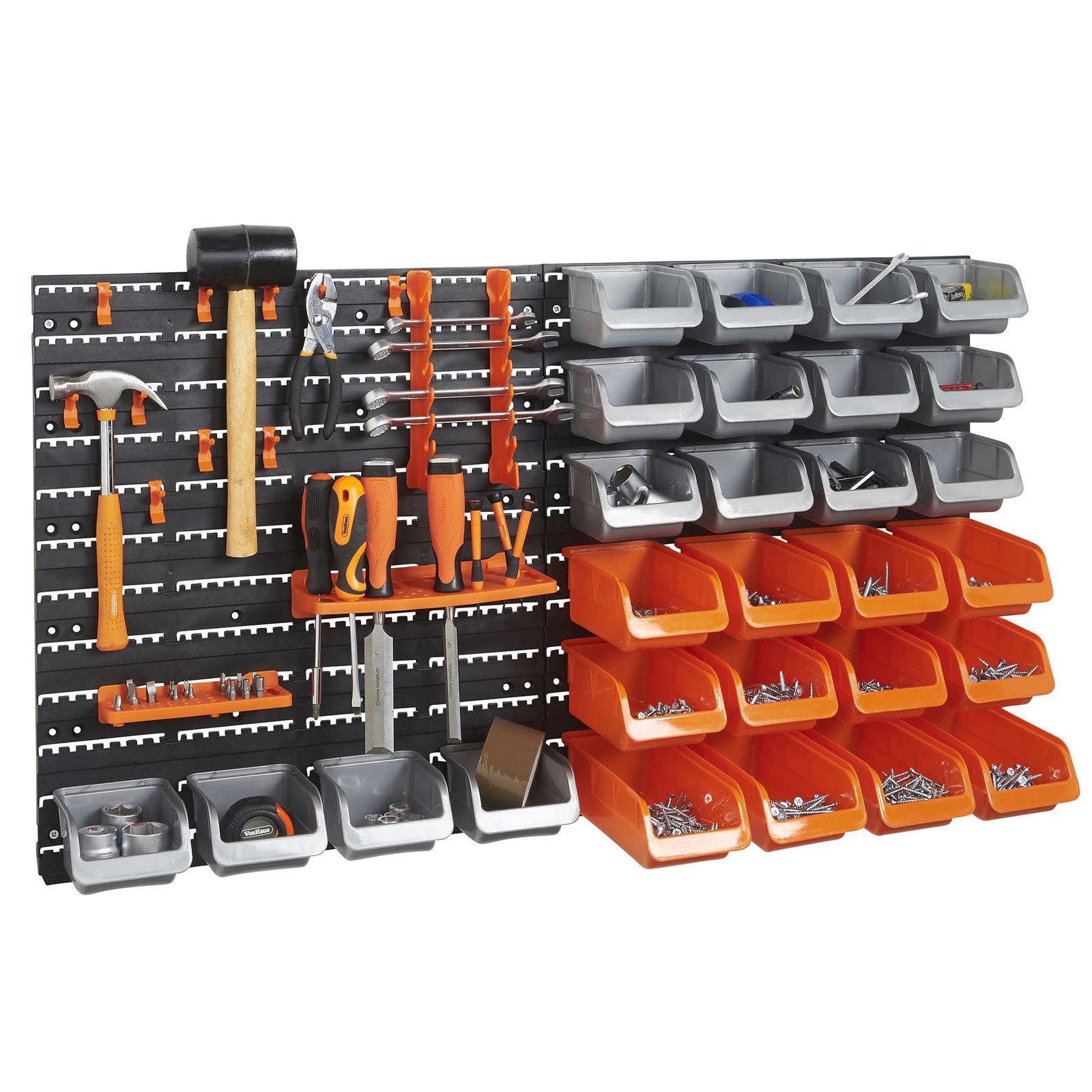 VonHaus 44pc Storage Bin & Hook Set £15.99 delivered + 2 Year Guarantee @ Domu eBay