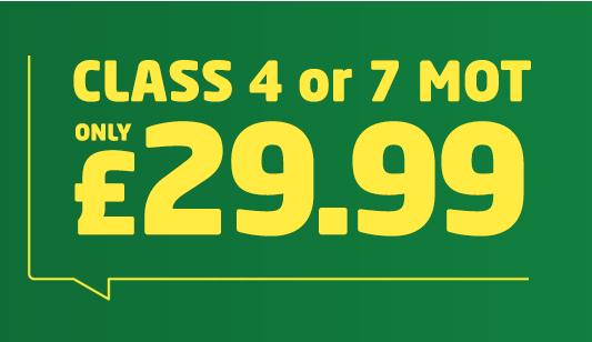 ATS Euromaster MOT £29.99 Class 4 and Class 7