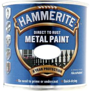 Hammerite Direct to Rust Metal Paint Smooth White 250ml £4.50 @ Wilkos