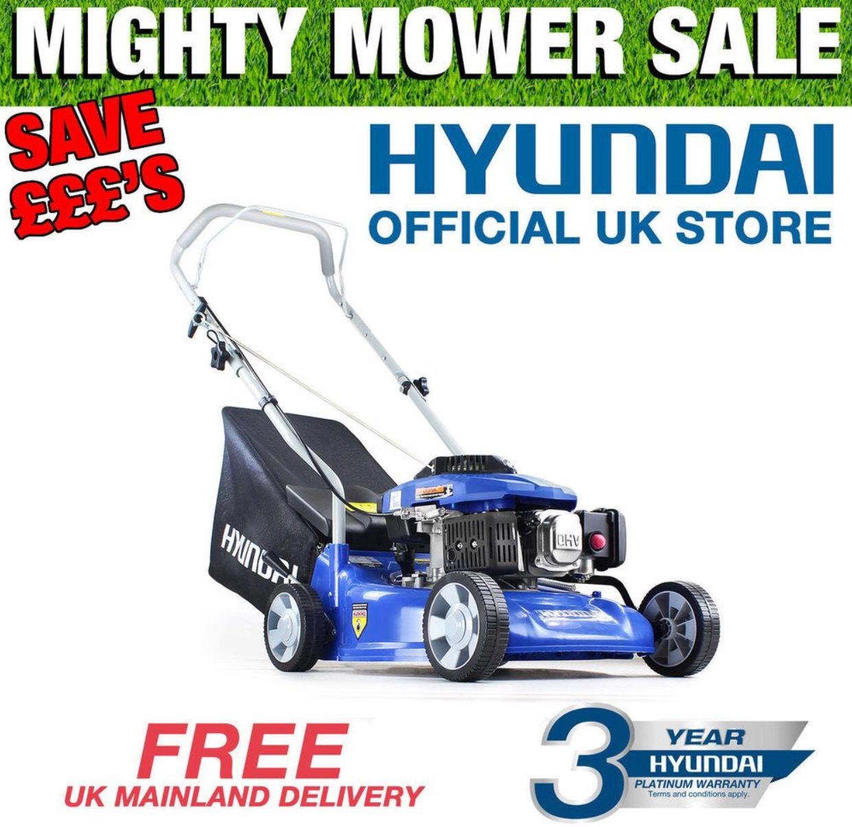 """Hyundai Petrol Push Lawnmower 40cm 16"""" inch Cut  £101.25 del @ hyundaipowerequipmentdirect / eBay w/code POOL10 from Germany ebay (see post) - STARTS TOMORROW"""