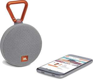 JBL Clip 2 Waterproof Ultra Portable Wireless Bluetooth Speaker - Grey £29.99 Amazon