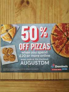 50% off dominos pizza! Southampton - Minimum £20