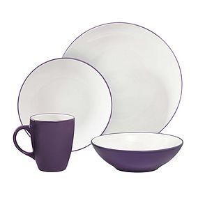 Spectrum 16 Piece Dinner Set (Purple or Lime) now £11.50 @ Dunelm