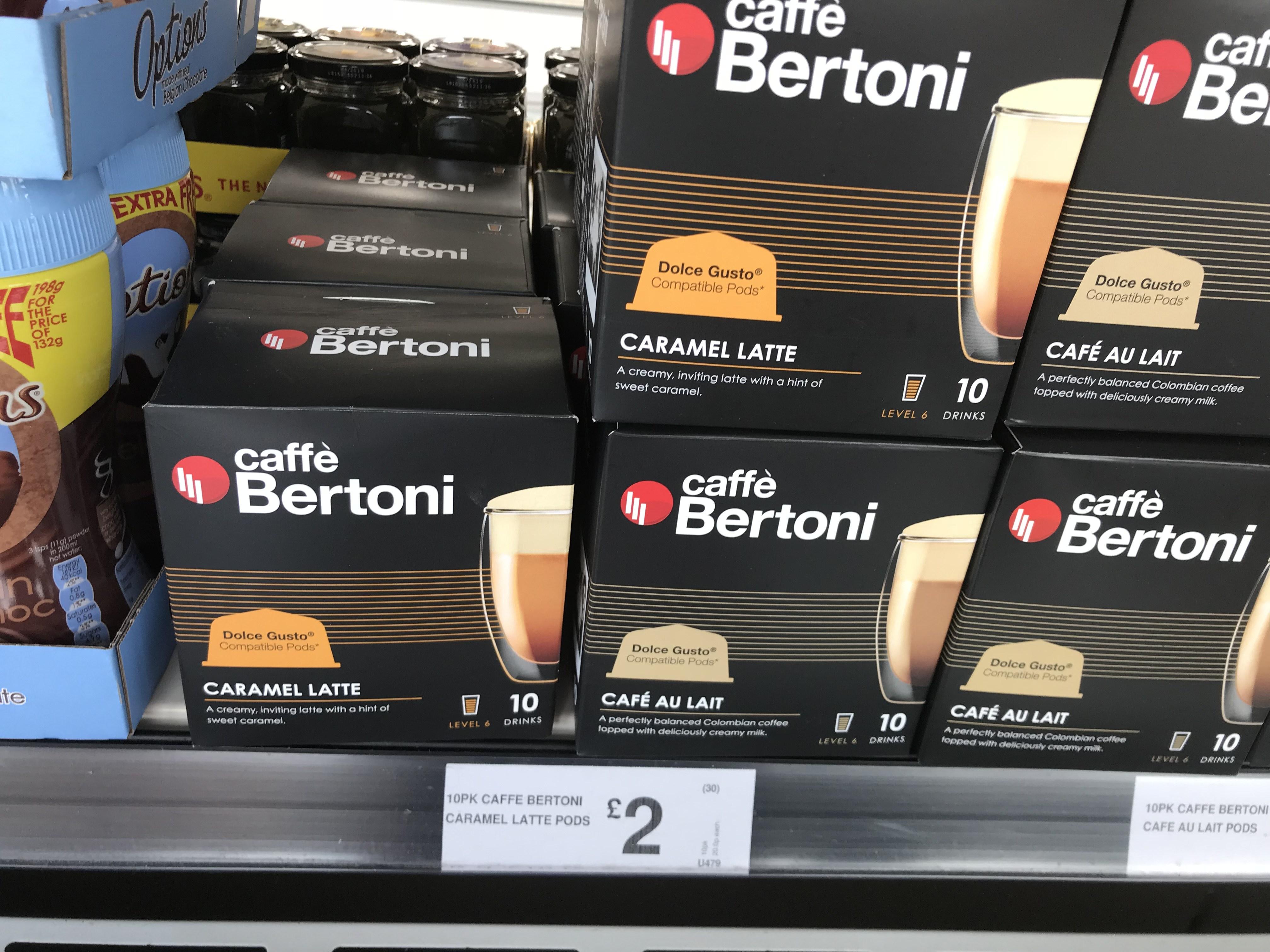 Caffè Bertoni coffee pods x 10 @ Farmfoods for £2