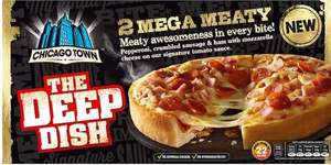 Chicago Town The Deep Dish Mega Meaty Pizzas 2 x 160g (320g) £1 @ Iceland