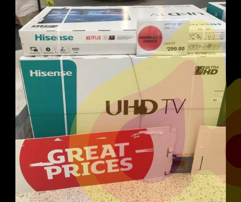 """Hisense H50N5300UK 50"""" uhd tv £299 in Sainsbury's instore"""