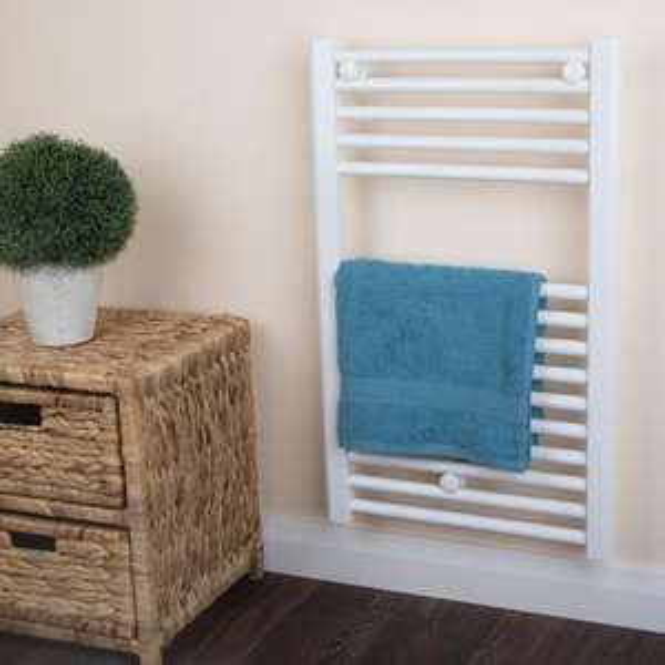 Bathroom Towel Radiator White - H 730 x W 450mm - £14.99 / £19.94 Delivered @ Brooklyn Trading