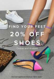River Island 20% off Shoes