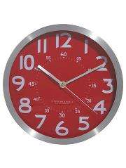 Red fascia kitchen wall Clock with silver finish rim £3.18 free delivery to ASDA store @ ASDA Direct/George
