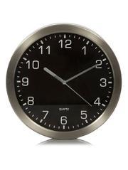 Black Metal Wall Clock £6.00 At Asda Free Click and Collect