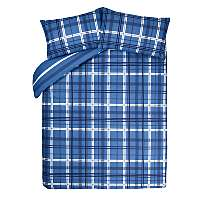 Blue Check Duvet Set - Double £3.00 @Asda- Free C+C