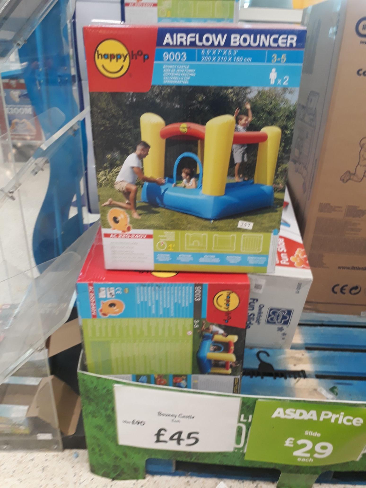 Bouncy castle at asda. Half price - £45 instore