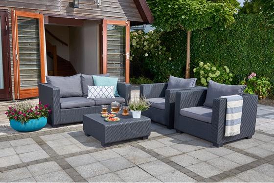 Keter Salta 4 Seater Garden Lounge Set Sofa £200 @ Homebase