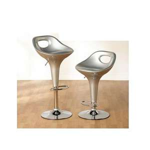 2 x silver Miami Bar Stool. Was £100, now £30. 70% off.@ Designer Sofas 4 U