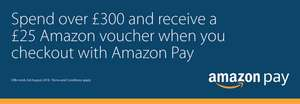 Spend over £300 and receive a £25 Amazon voucher when you checkout with amazon pay @ sevenoaks