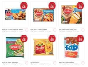 Co-op Frozen Meal Deal £5 (£4.50 NUS) -  Birds Eye 8 Fish Fingers - 12 Chicken Dippers - 2 Crispy Chicken Grills - Mixed Vegetables - McCain Smiles -  6 Fab Extra Strawberry Lollies