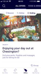 Freebies at Chessington World of adventures 1st-5th Aug with 02 priority