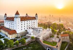 3 nights in Bratislava for £80 each (total £160) for flights, accommodation and breakfast @ Ebookers