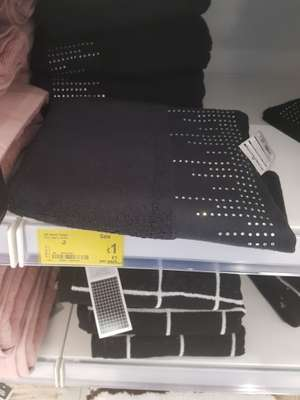 Black hand towels diamonte £1 @ asda in store