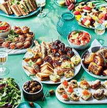 5 for the price of 4 on party food and platters plus stacks with £5 off £35 food spend eg £44 worth of for £31.91 and 10% off code for all food to order inc Wedding cakes @ Marks and Spencer (See OP)