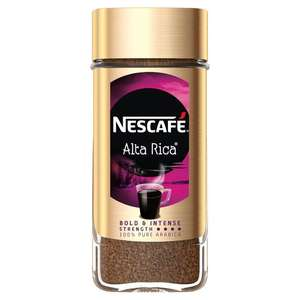 Nescafe Alta Rica coffee, 100g Morrisons £3.....£4.49 in Tesco and Asda.... update folks, it is £2.99 in Lidl, only a penny but every little...