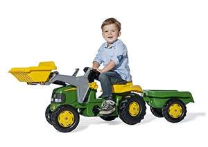 John Deere Ride-on Tractor with Loader and Detachable Trailer - Amazon £69.99