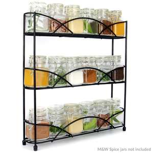 3 Tier Herb & Spice Rack Available in Black or Chrome £6.99 Delivered with code @ Shop4World
