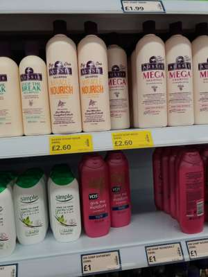 Aussie shampoo and conditioner 500ml  £2.60/£2.99 @ Poundstretcher
