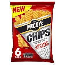 McCoys Chips Chip Shop Sea Salted 6 Pack - 60p @ Heron Foods