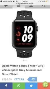 Apple Watch series 3 Nike £271.69 @ eGlobal Central