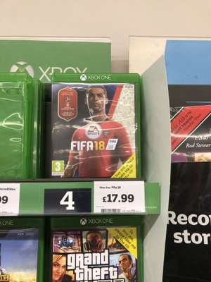 Fifa 18 Xbox One and PS £17.99 @ Sainsbury's