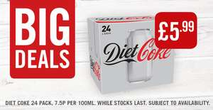 Coca Cola 24 pk - £5.99 in food warehouse Iceland