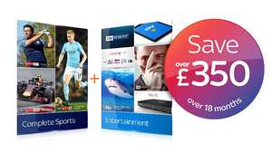 Sky Sports HD and Sky Entertainment HD - £40/month @Sky