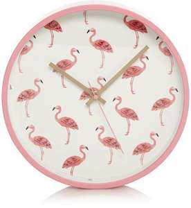 Half Price Wall Clocks - Flamingo Clock (was £8.00) Now £4.00 / Cactus Clock (was £8.00) Now £4.00 & more at Asda George