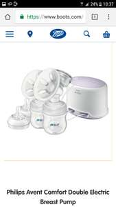 Philips Avent Comfort  electric double breast pump £83.99 Boots