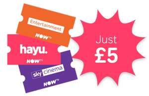 1 month of Sky Cinema and Entertainment for just £5 and get 3 months of hayu @ NowTv