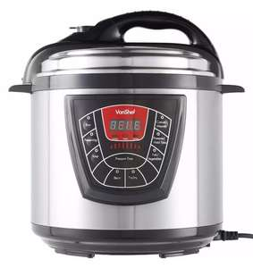 VonShef 6L Electric Pressure Cooker £31.99 with code POSE20 at ebay /  domu-uk