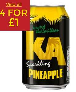KA Sparkling Pineapple / Black Grape / Fruit Punch / Ginger Beer 4 for £1 @ Adsa