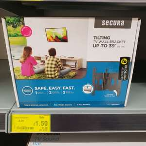 "Secura Tilted Wall Mount (Up to 39"") Only £1.50 @ Asda Romford"