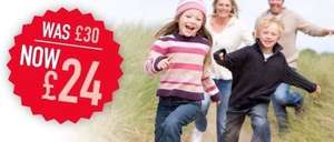 1 Year Family & Friends Railcard 20% off - £24.00