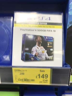 FIFA 18 500gb PS4 £149.99 @ Retford Asda.