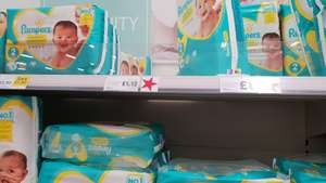 Pampers size 1 In Tesco Aberystwyth £1.12.