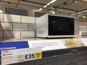 Tesco Basic Microwave Oven - Save £4 Now £35