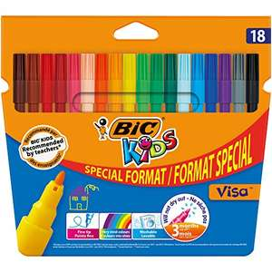 BIC Kids Visa Colouring Pens - Pack of 18 (15 Plus 3) £2.25 Add On Item @ Amazon