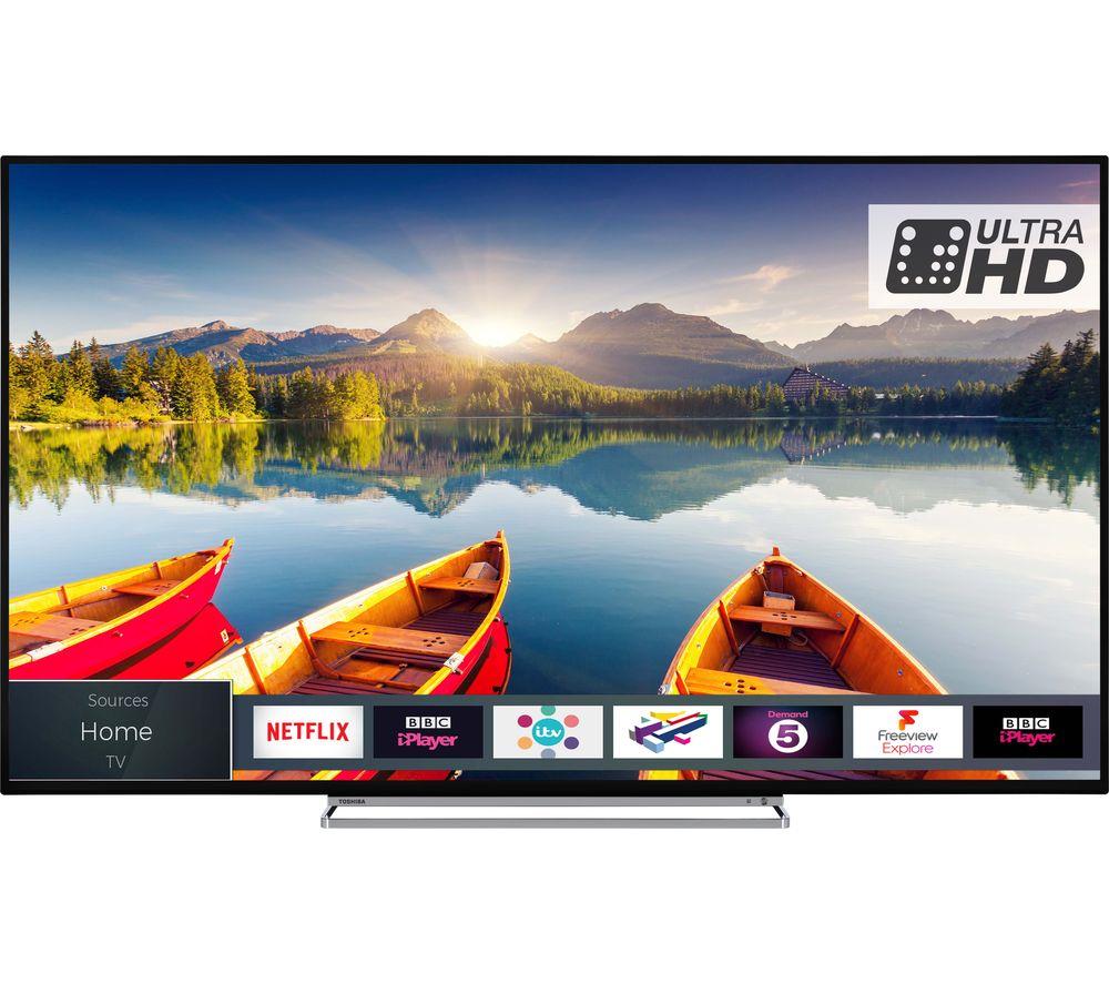 "TOSHIBA 55U6863DB 55"" Smart 4K Ultra HD HDR LED TV £419 @ Currys"
